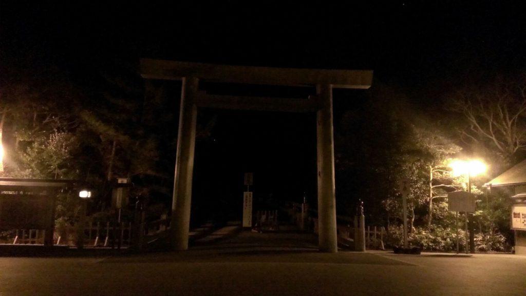 朝5時・宇治橋前