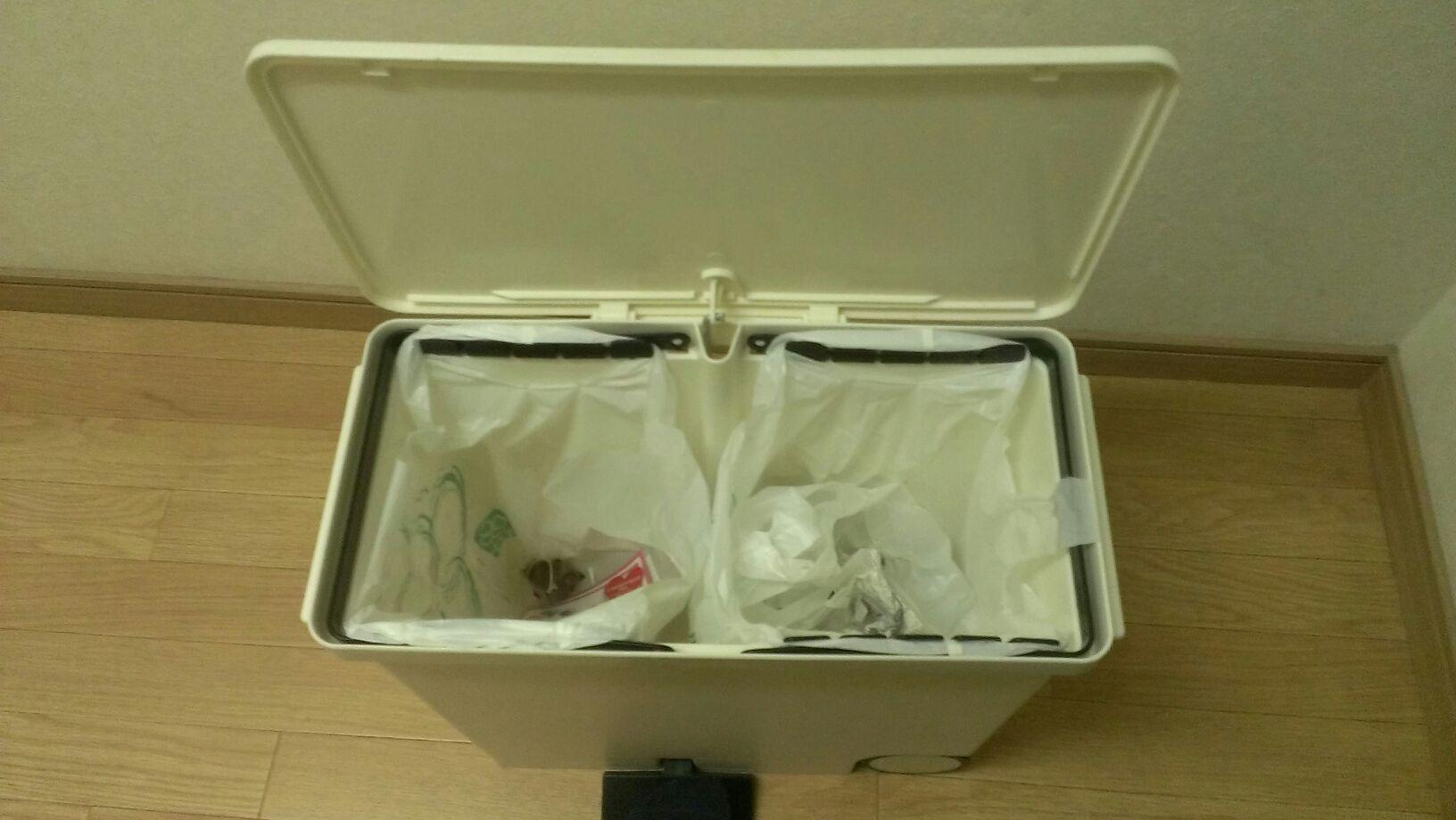 ゴミ箱の中