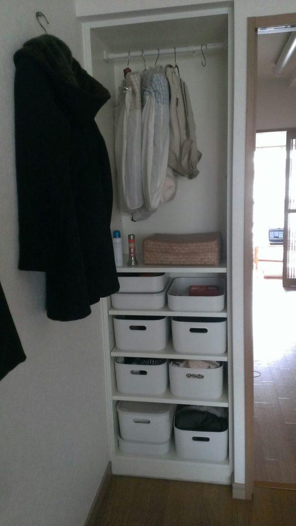 衣類収納ゾーン