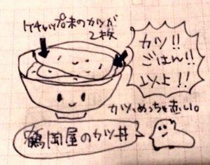 鶴岡屋のカツ丼