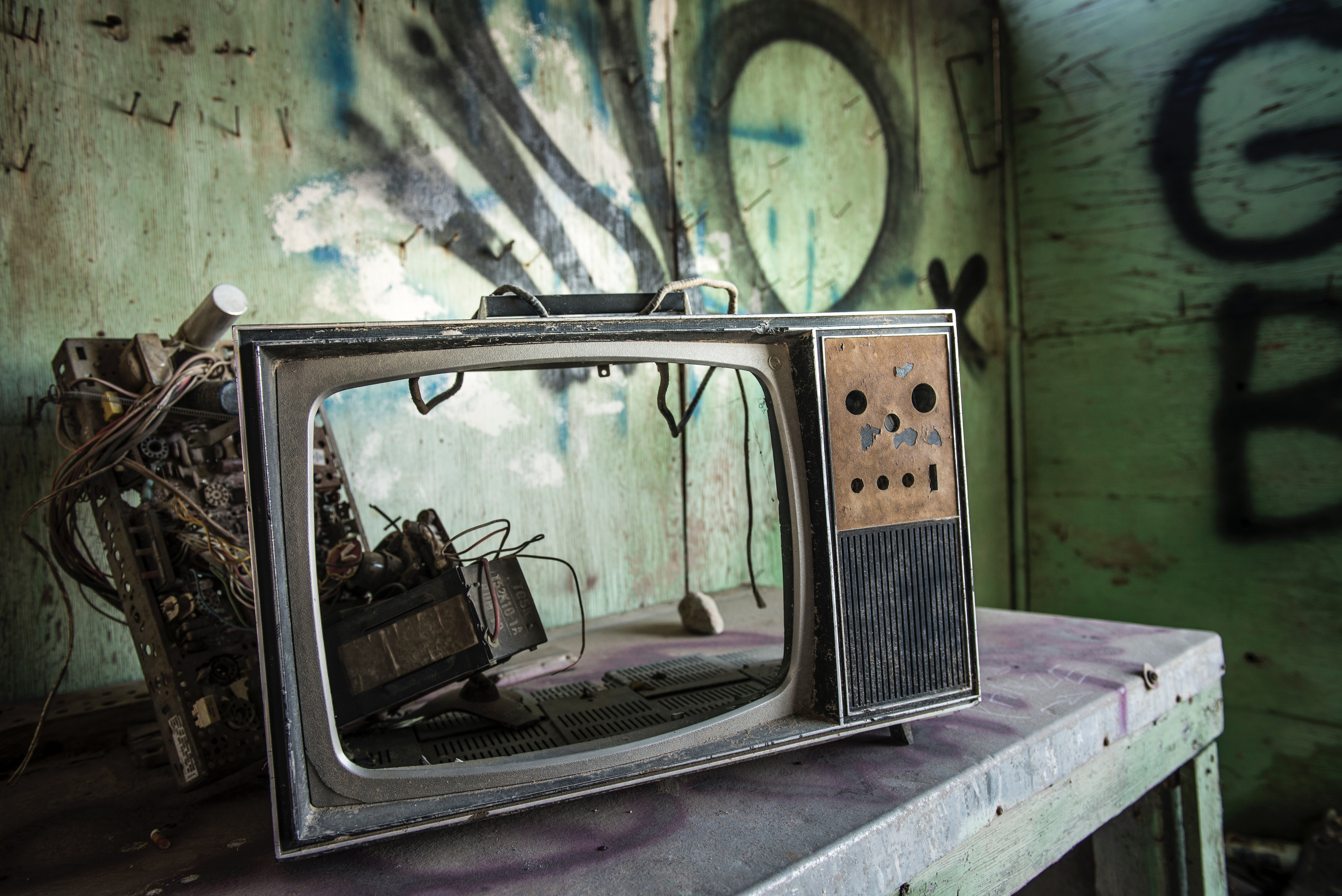 壊れたテレビやラジオ